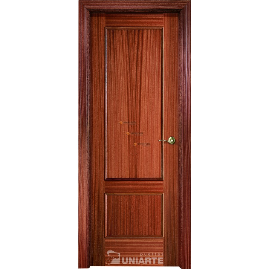 Puerta de madera f 2 sapelly coleccion madera linea for Puerta 2 pentagonito